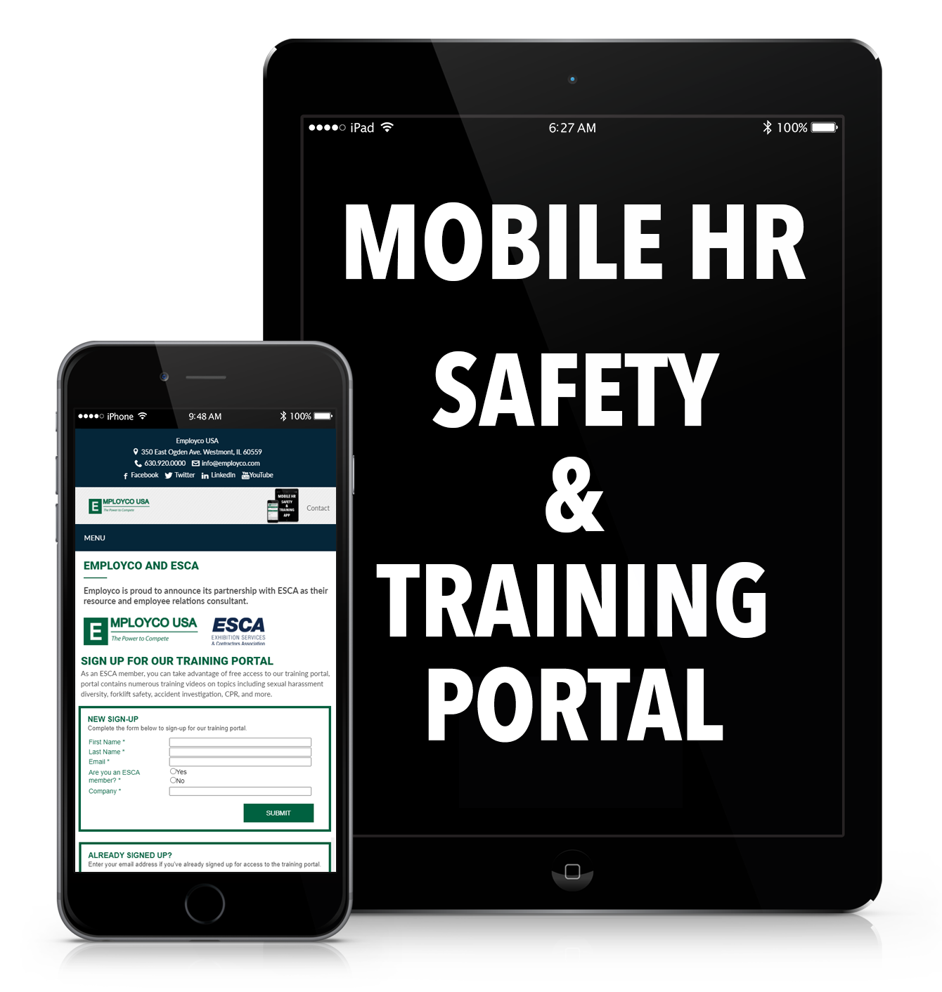 Mobile device training link.