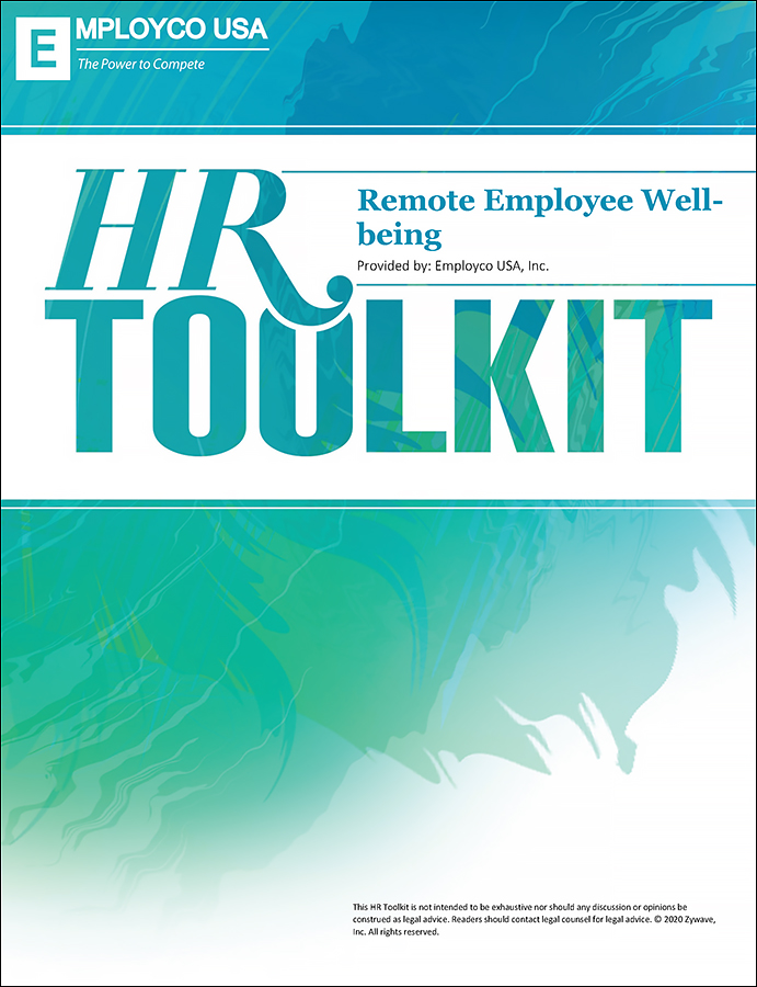 HR Toolkit: Remote Employee Well-being